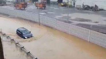 Le Grand-Duché du Luxembourg et la région d'Arlon sous eau, des déviations routières mises en place