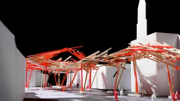 maquette Wooden structure