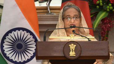 Le Première ministre du Bangladesh Sheikh Hasina à New Delhi, le 8 avril 2017.