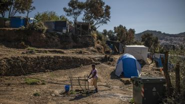 Grèce: un incendie se déclare dans le camp de migrants de Samos, sans faire de victime