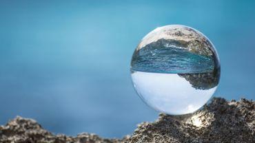 Glassball  at Mediterranean  Sea