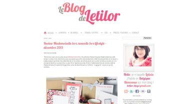 Letilor, un blog principalement mode grande taille, mais pas que !