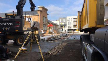 Le site de Bomel: les travaux seront terminés à la fin du mois.