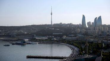 Vue de la ville de Bakou, capitale de l'Azerbaïdjan.