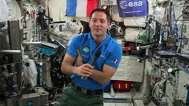 L'astronaute français Thomas Pesquet, le 30 mai 2017 à bord de la Station spatiale internationale (ISS)