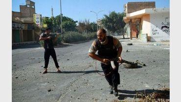 Des rebelles le 18 août 2011  à Zawiyah