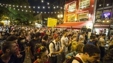 Des étudiants québecois manifestent le 24 mai 2012 à Montréal contre la hausse des frais de scolarité.