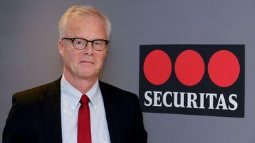 Pour Alf Goransson, patron de Securitas, ici le 23 novembre 2016, l'avenir est aux caméras intelligentes et aux algorithmes prédictifs