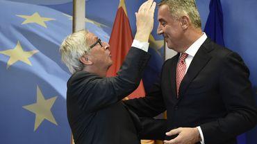 Jean-Claude Juncker accueille le Président du Monténégro, Milo Djukanovic, avant une réunion à Bruxelles le 5 juin 2018