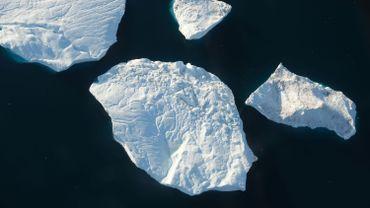 Icebergs dans l'ouest du Groenland, en août 2020
