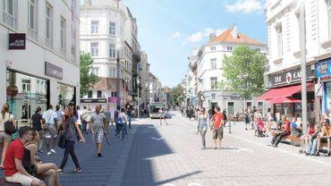 Le projet de chaussée d'Ixelles en 2018