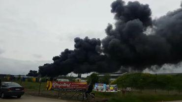 Incendie dans le zoning d'Aarschot