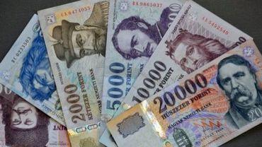 Des billets en forints, la monnaie hongroise