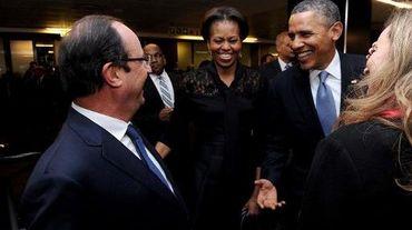 François Hollande et Barack Obama le 10 décembre 3013 à Johannesburg