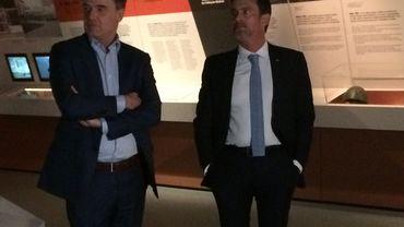 Manuel Valls visite le Bastogne War Museum.