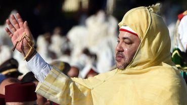 Mohammed VI le 31 juillet 2014 lors d'une cérémonie célébrant le 15e anniversaire de son accession au trône