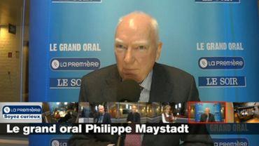 Philippe Maystadt était l'invité du Grand Oral La Première/Le Soir.
