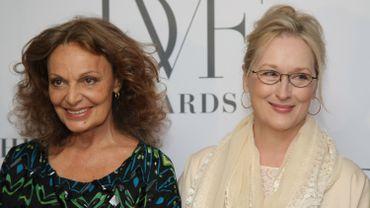 Diane von Fürstenberg avec l'actrice Meryl Streep.