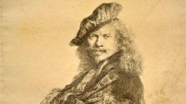 """Rembrandt, """"Autoportrait"""""""