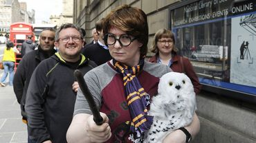 Fans d'Harry Potter à Edimbourg