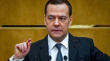 Le Premier ministre russe, Dmitri Medvedev, à Moscou, le 11 avril 2018