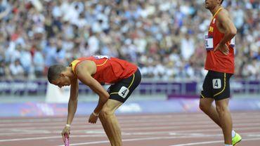 Le relais belge du 4X400 m termine 6e de la finale en 3:01.83