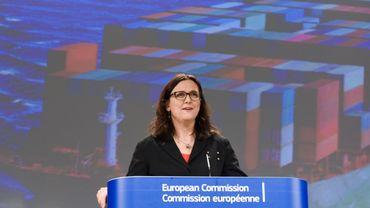 Cecilia Malmström, la commissaire européenne au commerce, en charge des négociations des traités de libre-échange