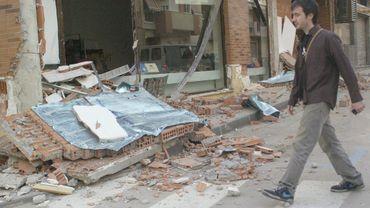 Des débris à Lorca après le séisme en Espagne