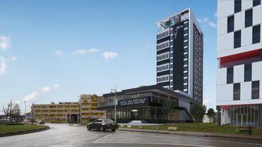 Le futur hôtel Van Der Valk doit être construit à côté de la nouvelle tour de la FGTB à la ville basse