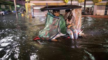 Les rues de Manille, aux Philippines, ont été inondées par la tempête tropicale Yagi le 11 août 2018