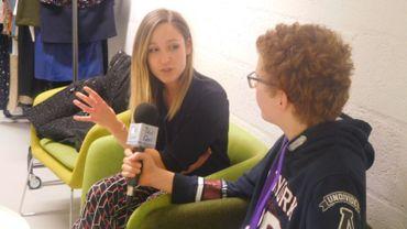 Sarah Grosjean en interview