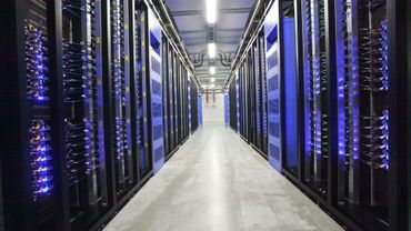 Illustration: la salle des serveurs de Facebook à Lulea, en Suède