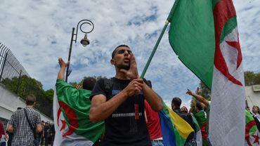 Des étudiants algériens lors d'une manifestation dans les rues de la capitale, le 21 mai 2019