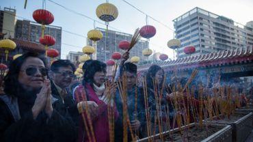 Célébration de la Nouvelle Année à Hong Kong