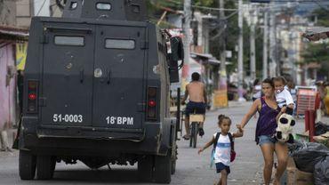Dans une favela de Rio de Janeiro, le 3 mars 2018