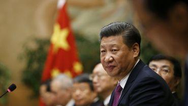 Le président chinois Xi Jinping pendant une réunion le 18 janvier dernier au siège européen de l'ONU à Genève