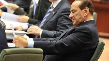 Le Premier ministre italien Silvio Berlusconi le 23 octobre 2011 à Bruxelles