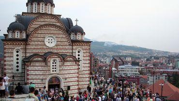 Une église serbe à Mitrovica