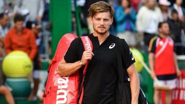 David Goffin à sa sortie du court après sa défaite à Monte-Carlo