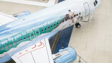 6 tableaux de Brueghel composent l'habillage d'un nouvel appareil Airbus de la Brussels Airlines