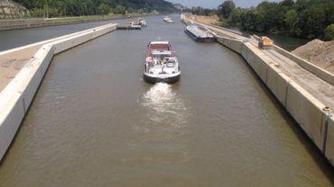 La quatrième écluse de Lanaye ouverte à la circulation des bateaux