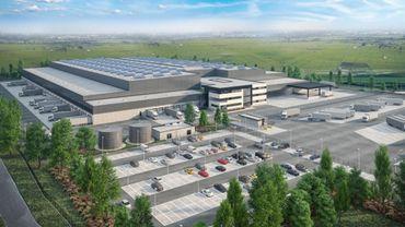 La Louvière: la première pierre de la future plateforme logistique Lidl a été posée