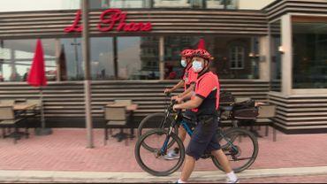 Par endroit, le port du masque est également une obligation pour les cyclistes.