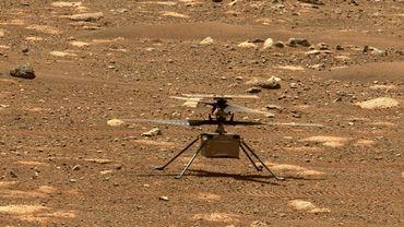 L'hélicoptère de la Nasa Ingenuity sur Mars, le 7 avril 2021