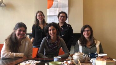 De gauche à droite, les 5 associées : Tamara Nissen, Sybille Gioe, Estelle Berthe, Karolin Arari-Dhont, Amélie Adam.