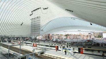 La gare des Guillemins, à Liège