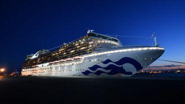 Le paquebot Diamond Princess au large de Yokohama (Japon) le 6 février 2020