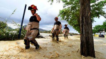 Des soldats ont participé aux opérations de secours dans le sud-est de l'Espagne en proie à des inondations, le 13 septembre 2019.