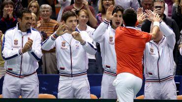 Djokovic félicité par l'équipe serbe
