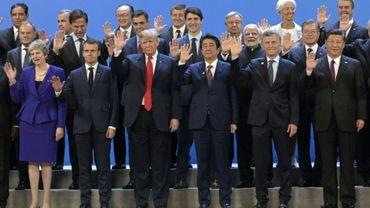 Les grands dirigeants mondiaux au premier jour du G20 le 30 novembre 2018, à Buenos Aires, en Argentine